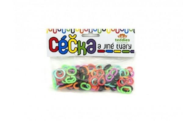 Teddies Céčka farebná rôzne tvary 100ks v sáčku