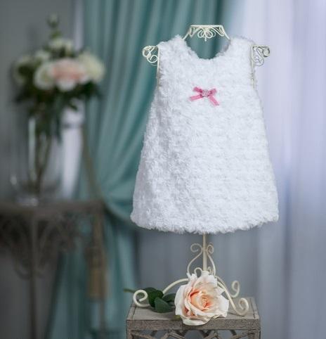 Šatičky / tunika s kožušinkou Baby Nellys ® - biele