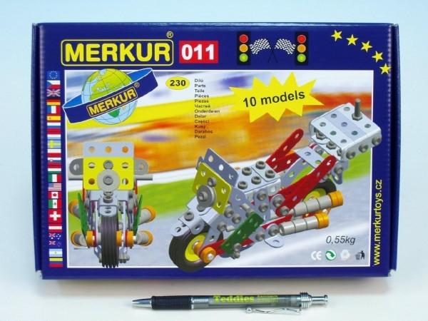 Teddies Stavebnica MERKUR 011 Motocykel 10 modelov 230ks v krabici 26x18x5cm