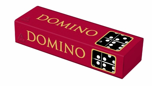 Teddies Domino spoločenská hra drevo 28ks v krabičke 15,5x3,5x5cm