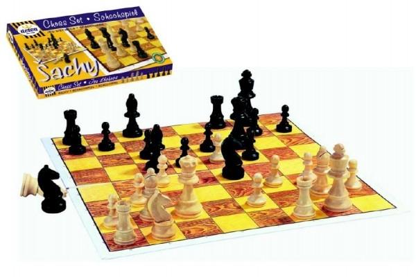 Teddies Šach drevo spoločenská hra v krabici 37x22x4cm