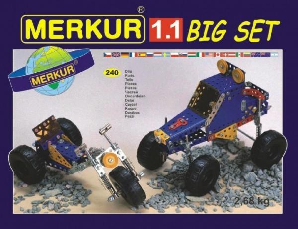 Teddies Stavebnica MERKUR 1.1 10 modelov 240ks v krabici 36x26,5x5,5cm