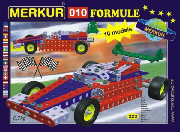 Teddies Stavebnica MERKUR 010 Formula 10 modelov 223ks v krabici 26x18x5cm
