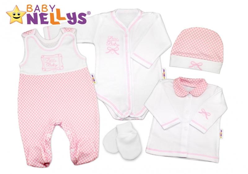 Súprava do pôrodnice Baby Nellys - Little Baby - ružová kostička