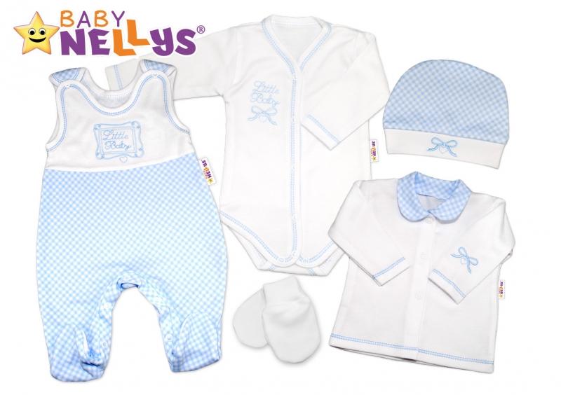 Súprava do pôrodnice Baby Nellys - Little Baby -  modrá kostička