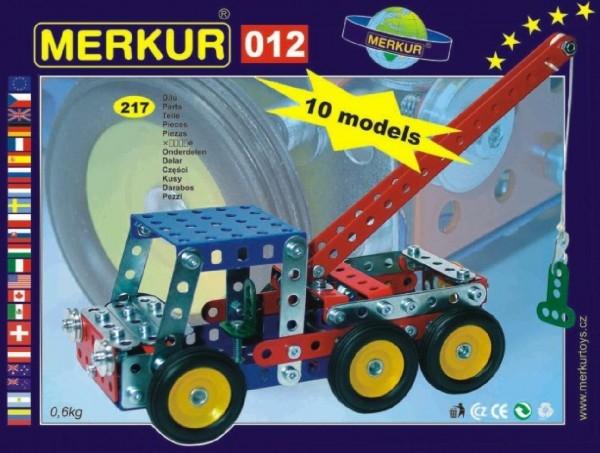 Teddies Stavebnica MERKUR 012 Odťahové vozidlo 10 modelov 217ks v krabici 26x18x5cm