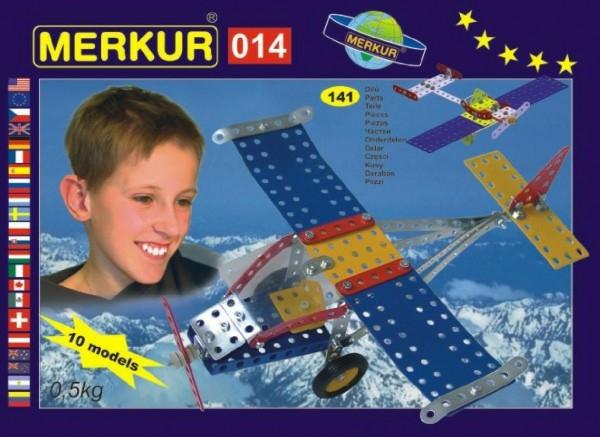 Teddies Stavebnica MERKUR 014 Lietadlo 10 modelov 141ks v krabici 26x18x5cm