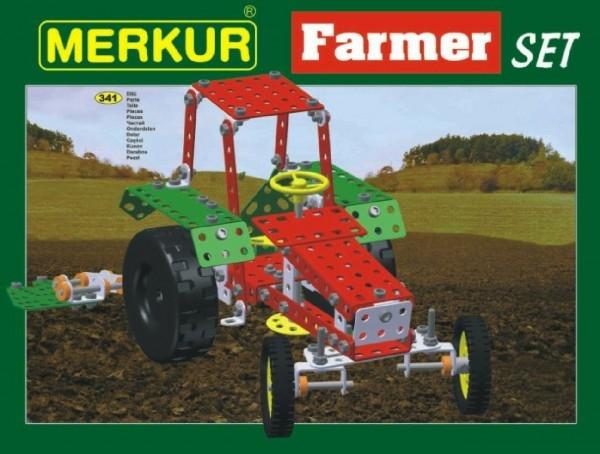 Teddies Stavebnica MERKUR Farmer Set 20 modelov 341ks v krabici 36x27x5,5cm
