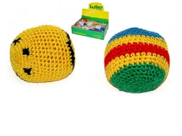 Teddies Hakisák míček footbag 6cm v sáčku 24ks v boxu