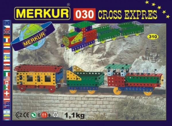 Teddies Stavebnica MERKUR 030 Cross expres 10 modelov 310ks v krabici 36x27x3cm
