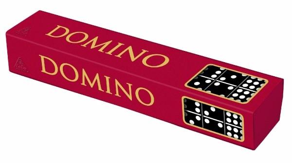 Teddies Domino spoločenská hra drevo 55 ks v krabičke 23,5x3,5x5cm