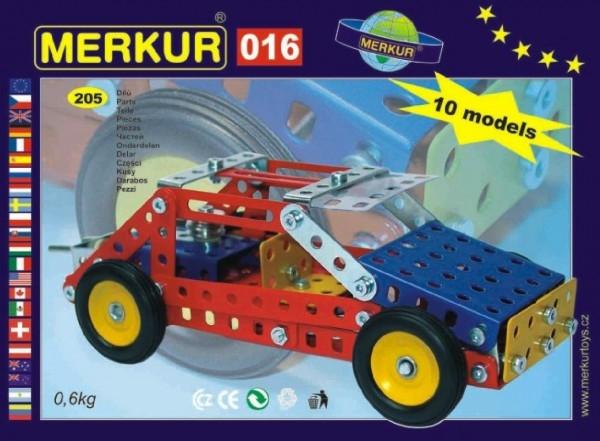 Stavebnica MERKUR 016 Buggy 10 modelov 205ks v krabici 26x18x5cm