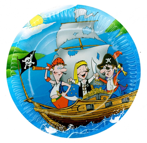 Tanierik párty - pirát, 6 ks v sáčku
