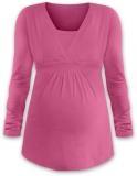 JOŽÁNEK Dojčiace aj tehotenská tunika ANIČKA s dlhým rukávom - ružová
