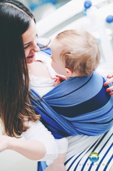 Little FROG Tkaná šatka na nosenie deti - Kyanite