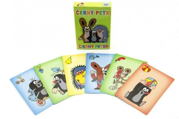 Teddies Čierny Peter Krtko spoločenská hra - karty v papierovej škatuľke