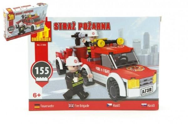 Teddies Stavebnica Dromader Hasiči Auto 21405 155ks v krabici 25,5x18,5x4,5cm