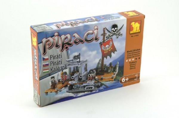 Teddies Stavebnica Dromader Piráti 27502 238ks v krabici 32x21,5x5cm