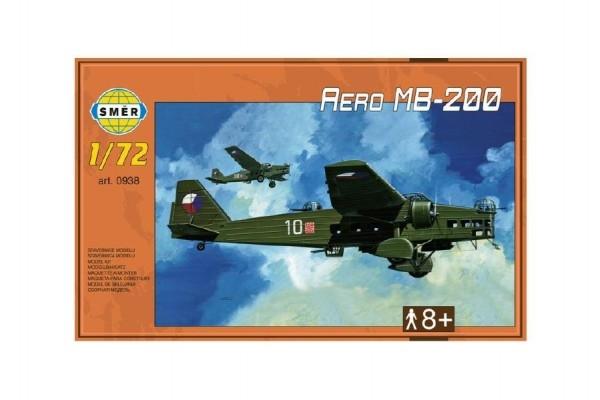 Teddies Model Aero MB-200 1:72 22,3x31,2cm v krabici 35x22x5cm
