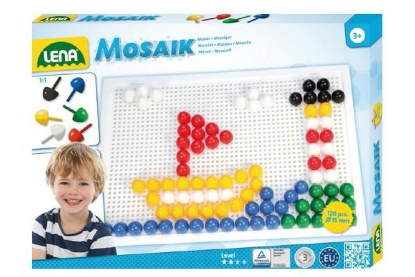 Teddies Mozaika klobúčik 1,5cm hladký 120ks v krabici