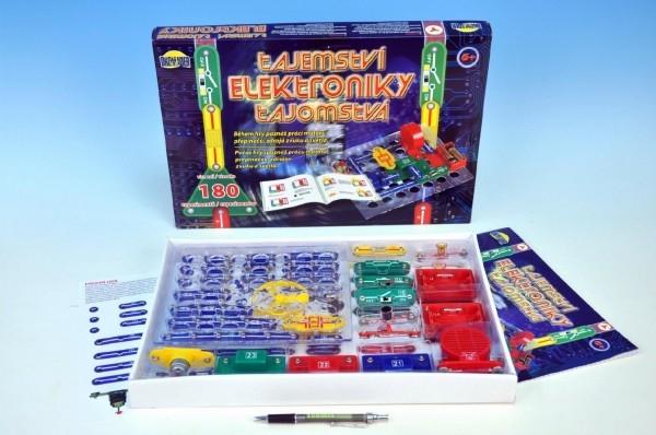 Teddies Tajomstvo elektroniky 180 experimentov na batérie v krabici 42x28,5x4cm od 6 rokov