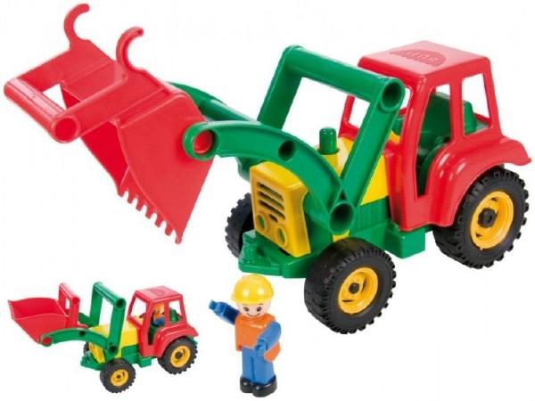 Teddies Auto traktor / nakladač aktívny s lyžicou plast 35cm od 24 mesiacov