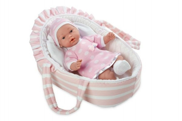Bábika / bábätko voňajúce 28cm ružové mäkké telo v taške na batérie v sáčku