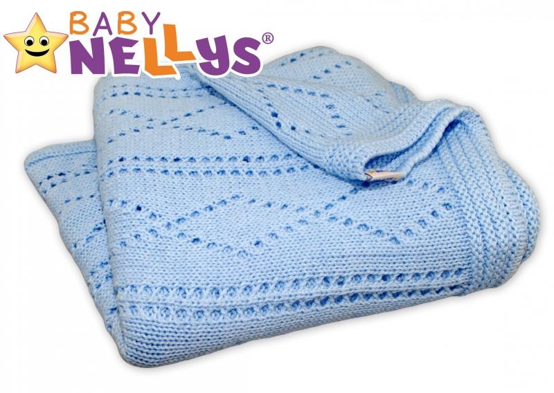 Háčkovaná deka Baby Nellys ® - modrá