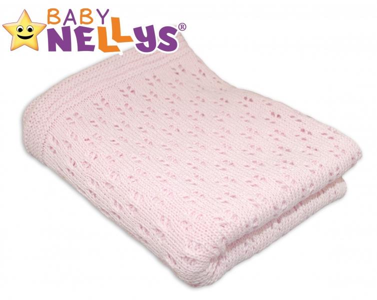 Háčkovaná deka Baby Nellys ® - ružová