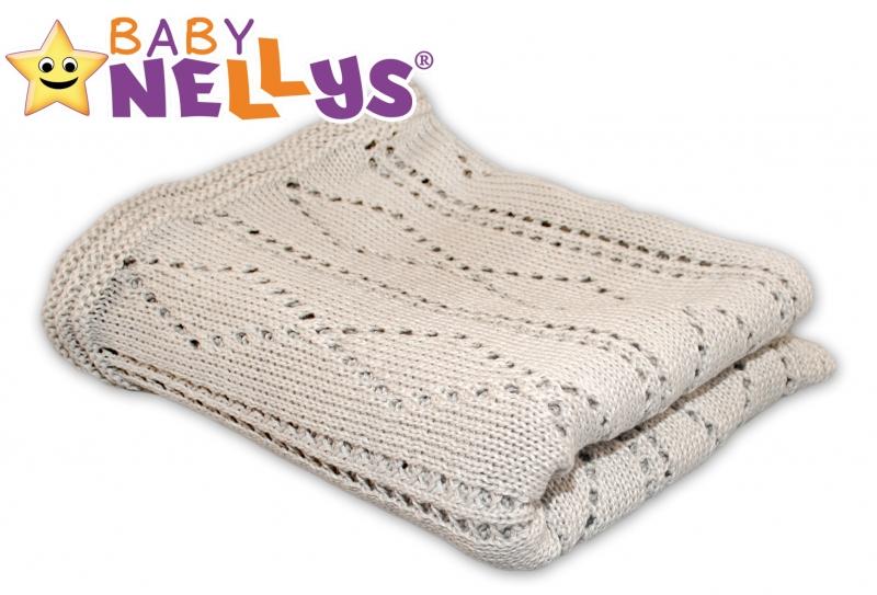 Háčkovaná deka Baby Nellys ® - béžová