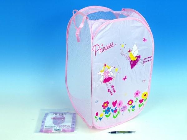 Kôš na hračky Princess ružový 36x36x58cm polyester