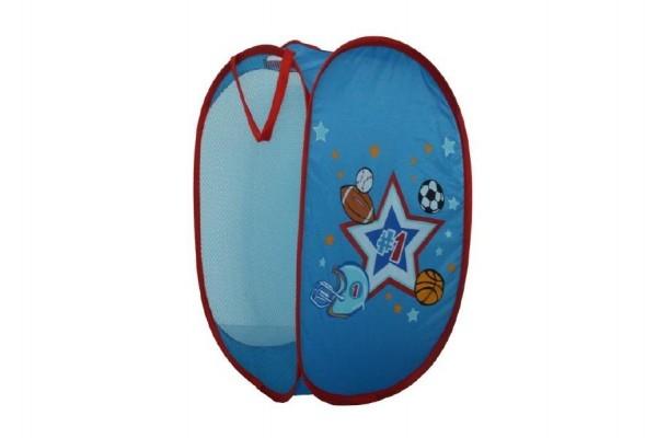 Kôš na hračky modrý pre chlapcov 36x36x58cm polyester v sáčku