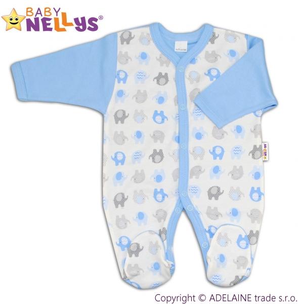 Overal Baby Nellys ® - Sloníky - modrý