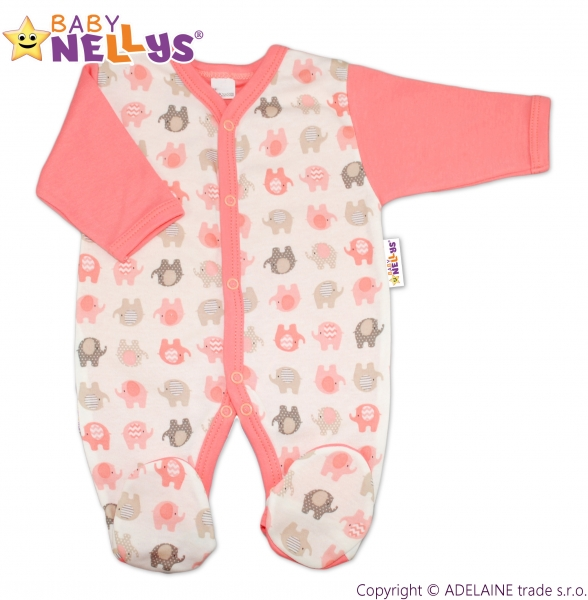 Overal Baby Nellys ® - Sloníky - losos