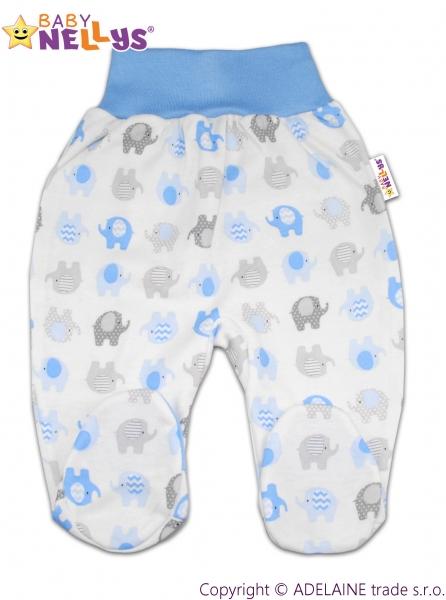 Polodupačky Baby Nellys ® - Sloníky modré