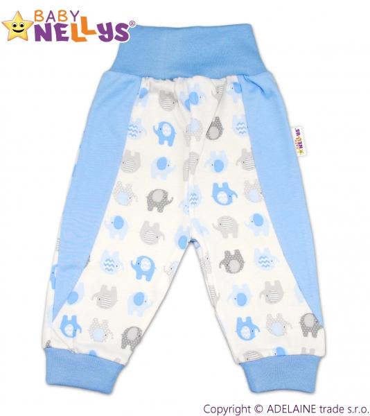 Tepláčky/polodupačky Baby Nellys ® - Sloníky modré