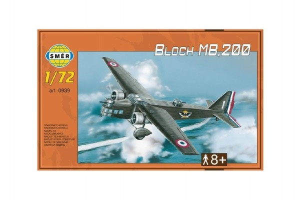 Teddies Model Bloch MB.200 31,2x22,3cm v krabici 35x22x5cm