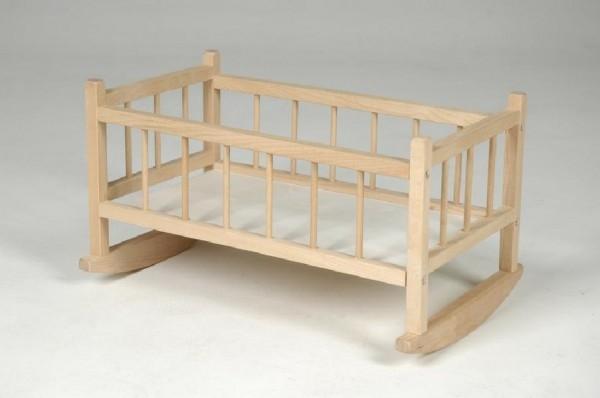 Teddies Kolíska pre bábiky drevo 49x28x27cm v sáčku