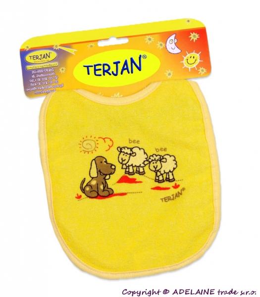 Podbradník TERJAN - stredný -žltý/krémový