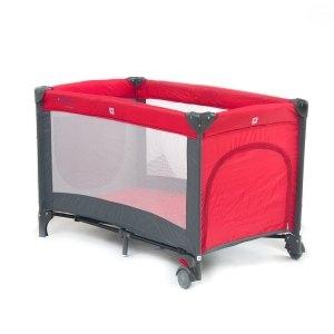 Detská cestovná postieľka QX-805 - tm. červená