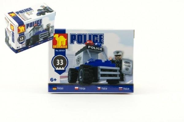 Teddies Stavebnica Dromader Polícia Auto 23101 33ks v krabici 9,5x7x4,5cm