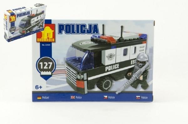 Teddies Stavebnica Dromader Polícia Auto Dodávka 23404 127ks v krabici 22x15x4,5cm