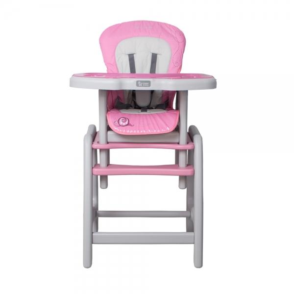 Jedálenský stolček Coto Baby STARS Šnek - růžový