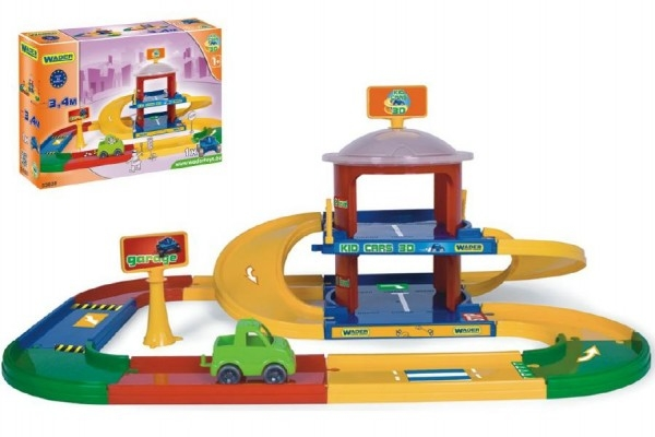 Teddies Garáž Kid cars 3D 2 poschodia 3,4 m 90x57cm Wader