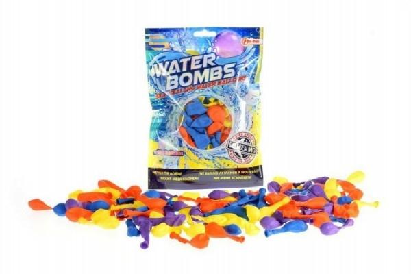 Vodné bomby sa samotesniacim uzáverom a nástavcom na kohútik +/- 100ks v sáčku