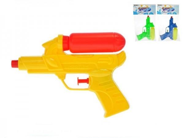 Vodné pištole plast 16cm s nádržkou 3 farby v sáčku