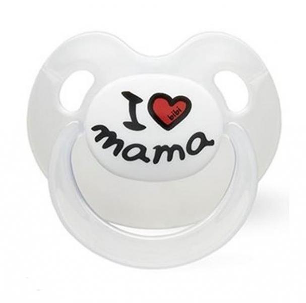 Silikónový ortodontický cumlík BIBI - I love Mama