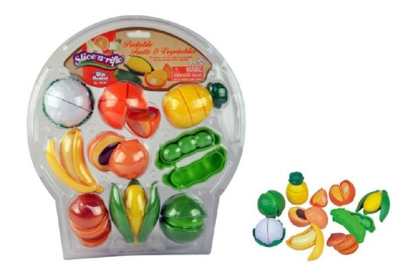 Teddies Krájací ovocie a zelenina plast 28ks na blistri