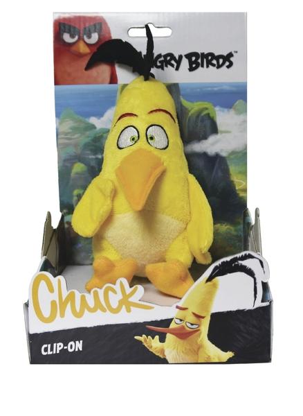 Angry Birds plyšová hračka Chuck s príveskom, 14 cm
