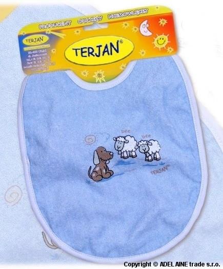 Podbradník TERJAN - stredný - modrý
